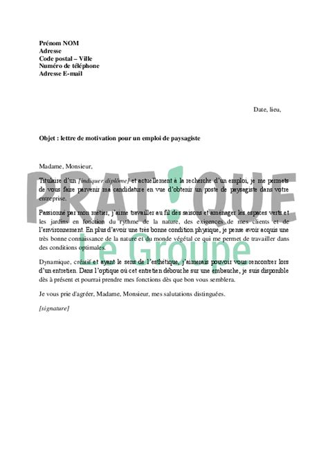 Exemple De Lettre De Motivation Maitrise Exemple Lettre De Motivation Jardinier Lettre De