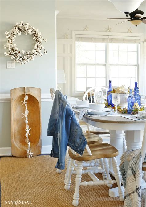 coastal dining room makeover sand and sisal 30 fall dining room and tablescape ideas
