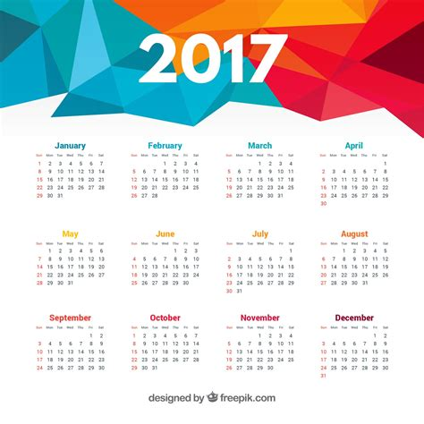 Calendario 2017 Gratis Calendar 2017 Vector Free New Template