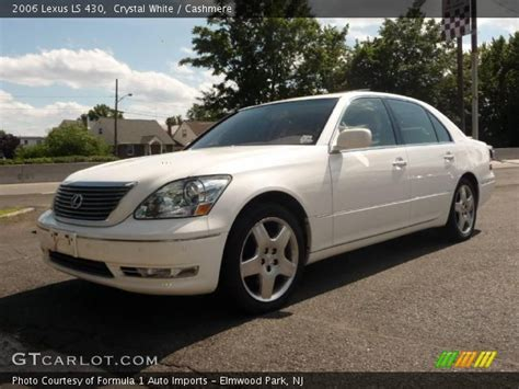 crystal ls for sale crystal white 2006 lexus ls 430 cashmere interior