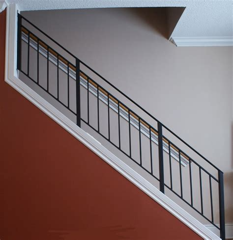 wrought iron stairway railing toronto custom metal