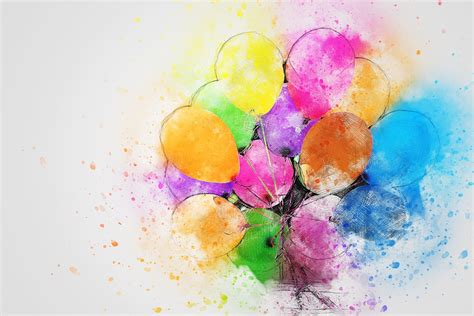Balloons party art 183 free image on pixabay