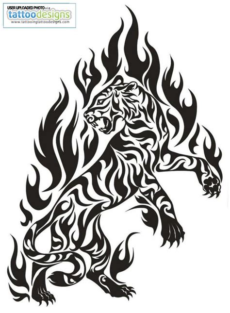 fire tiger tattoo designs tiger cliparts co