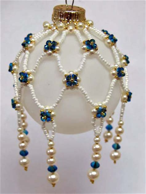 beaded christmas decorations free patterns free bead ornament patterns lena patterns