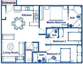 How Many Square Is A 2 Bedroom Apartment by 900 Square Foot House Plans 900 Sq Ft Three Bedroom And
