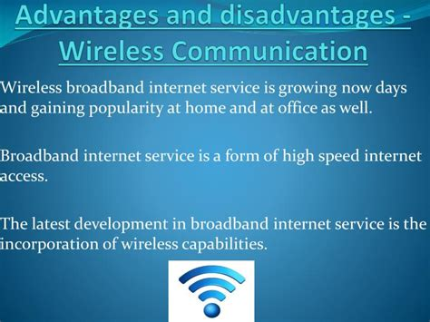 slides for ppt on wireless communication ppt advantages and disadvantages wireless