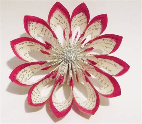 Flower Paper Craft - 12 step by step diy papers made flower craft ideas for