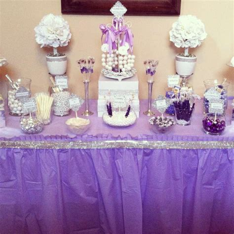 purple pink theme bridal wedding shower party ideas diamonds and pearls bridal wedding shower party ideas