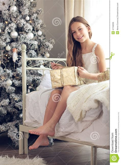 preteen models agency dolce stars christmas morning stock photo image 47758209