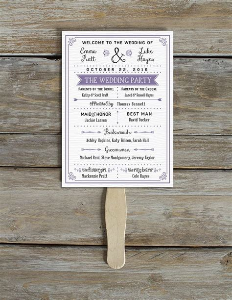 Purple Themed Program Free Printable Wedding Program Templates Popsugar Smart Living Photo 16 Creative Wedding Program Templates