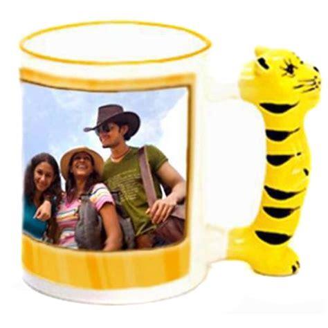 Handle Set Tiger S48 Gold personalized tiger handle photo mug india