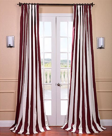 burgundy and white curtains cabana burgundy stripe cotton curtain panel contemporary