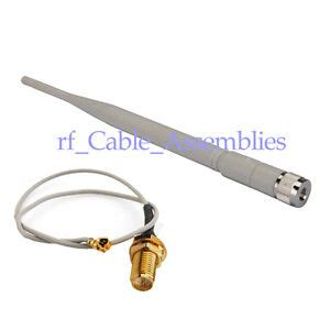 2 4ghz 5dbi omni wifi antenna rp sma for wireless router rp sma ipx cable ebay
