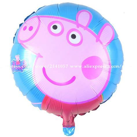 10pcs pink pig cartoon round balloon inflatable helium balloon aluminum balloons decorated