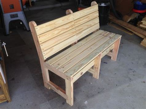 how to build a patio bench wood bench with back treenovation