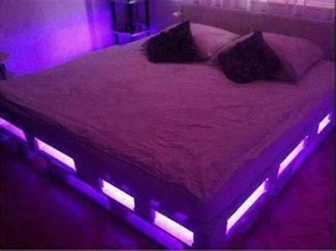 diy headboard with led lights pallet bed with lights bed with lights pallet king size