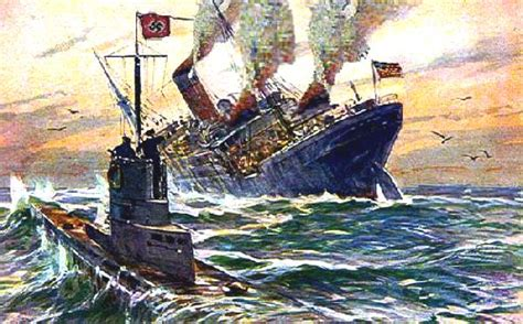 German U Boat Sinks The Lusitania Cause And Effect | german u boats sinking lusitania images