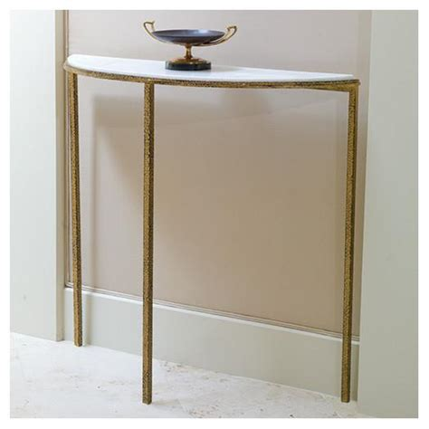 hammered console gold base gray faux shagreen console