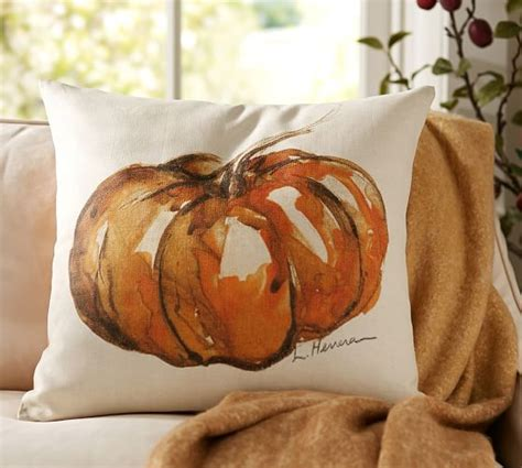 Pottery Barn Pumpkin Pillow by Painted Pumpkin Patch Pillow Cover Pottery Barn