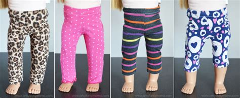 leggings pattern for 18 doll easy 18 inch doll leggings tutorial artsy fartsy mama