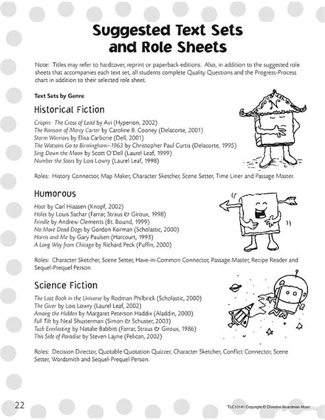 theme literature circle literature circle role sheets for fiction and nonfiction