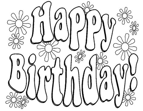 happy birthday coloring page for teacher adult coloring page happy birthday paper art pinterest
