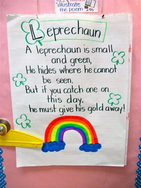 s day kindergarten grade fresh leprechaun poem st patty s day