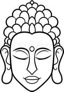 how to draw buddha easy step by step faces people free