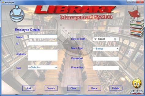 use template for library management system website templates