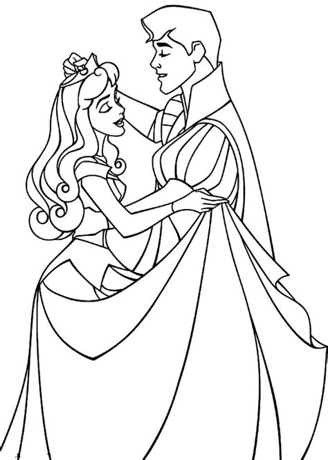 coloring pages of princess sleeping sleeping with prince coloring page