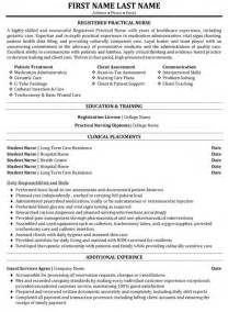 registered practical resume sle template