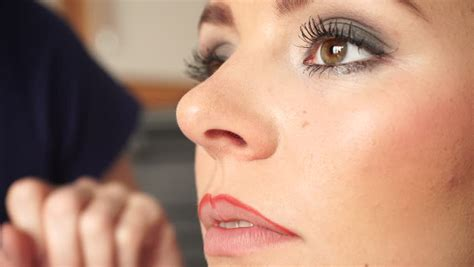 Lip Liner Makeover cosmetic procedures and makeover concept closeup