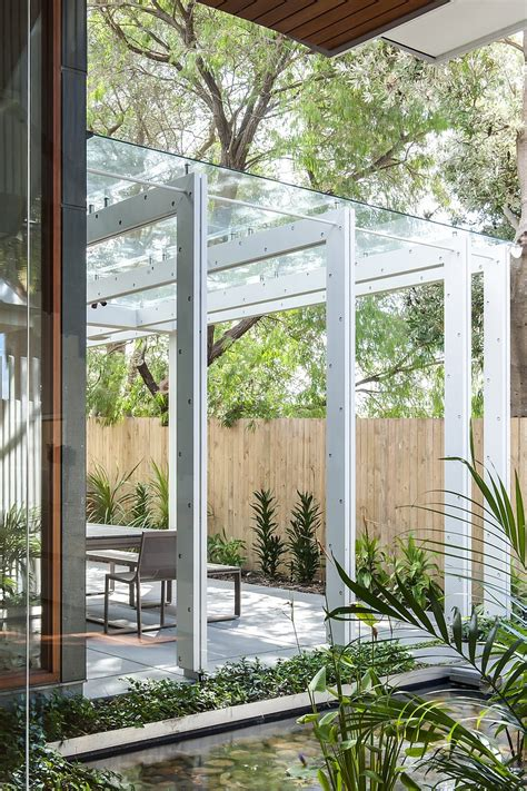 glass pergola roof coogee house in sydney featuring a lovely glass roofed