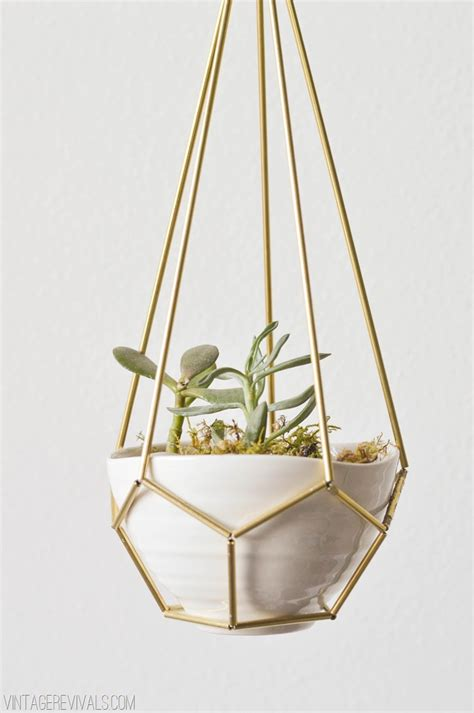 geometric hanging planter 19 creative ways to display succulents anything everythinganything everything