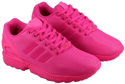 adidas womens adidas trainers womens zx flux pink 53622