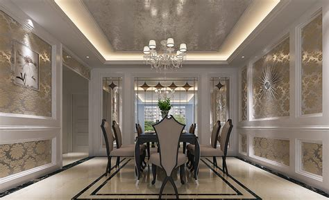 british neoclassical interior wooden walls and fabric sofa design neoclassical dining room