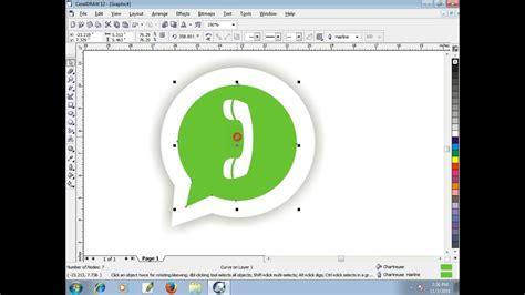 whatsapp tutorial for beginners easy whatsapp logo in coreldraw for beginners tech green