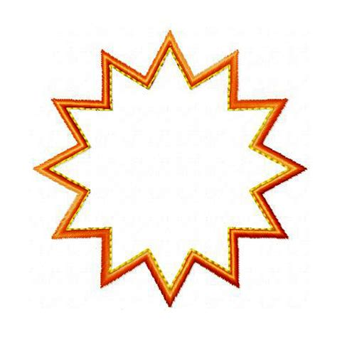 starburst template starburst applique machine embroidery design pattern