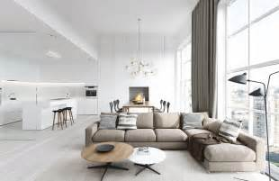 Modern Living Rooms by Spacious Modern Living Room Interiors
