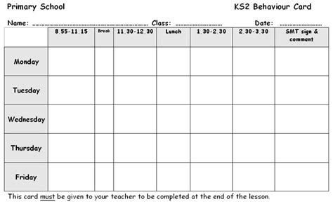 behaviour report card an editable and adaptable report