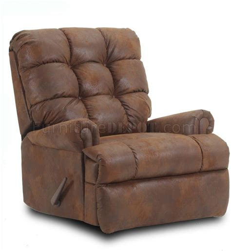 comfortable recliner tobacco microfiber fabric comfortable modern recliner