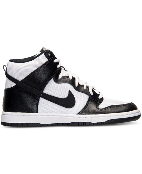 kaos get high nike white lyst nike s dunk high casual sneakers from