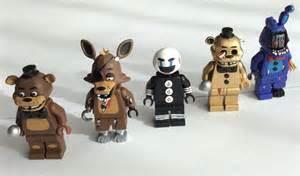 Five nights at freddy s fnaf custom lego minifigures mini figs set of