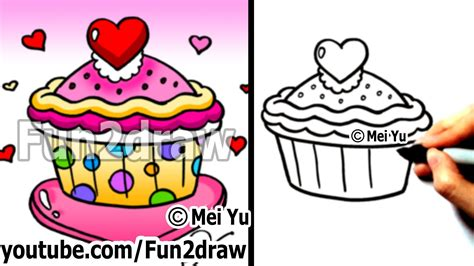 how to draw a cupcake cliparts co