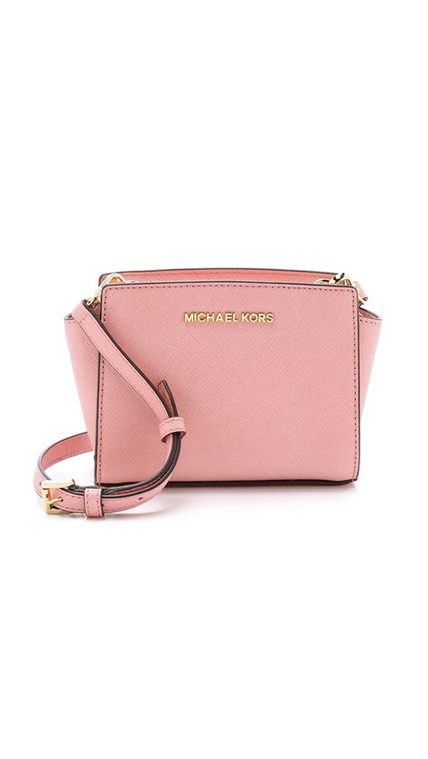 lyst michael michael kors selma mini messenger bag