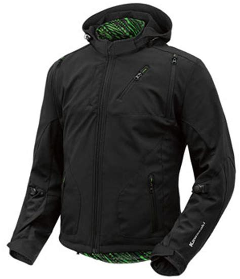 kawasaki riding jacket kawasaki fastlane motorcycle riding hooded jacket black ebay
