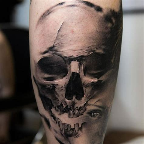 realistic skull tattoo top 10 detailed skull tattoos