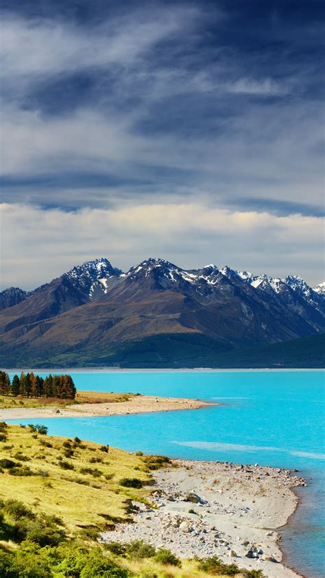 wallpaper  zealand river mountains  nature