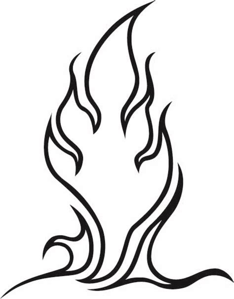 simple fire tattoo designs tribal gallery simple flames tribal designs