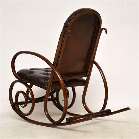thonet bentwood rocking chair 119866 sellingantiques co uk antique bentwood leather rocking chair by thonet